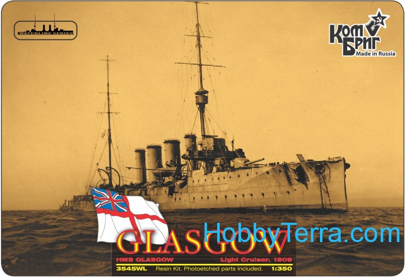 HMS Glasgow Light Cruiser, 1910 (Full Hull version)