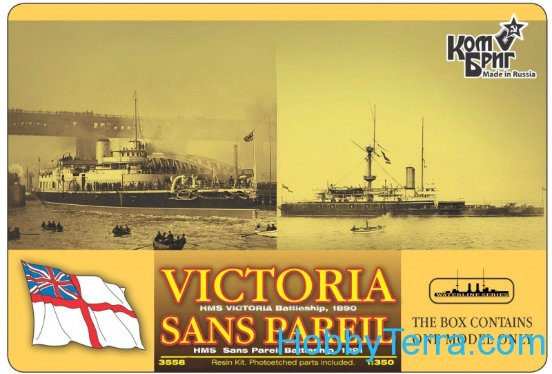HMS Victoria Battleship, 1890/HMS Sans Pareil Battleship, 1891 (Full Hull version)