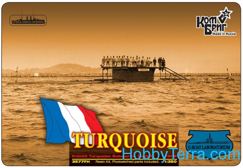 French Turquoise Submarine Early fit (Full Hull version)