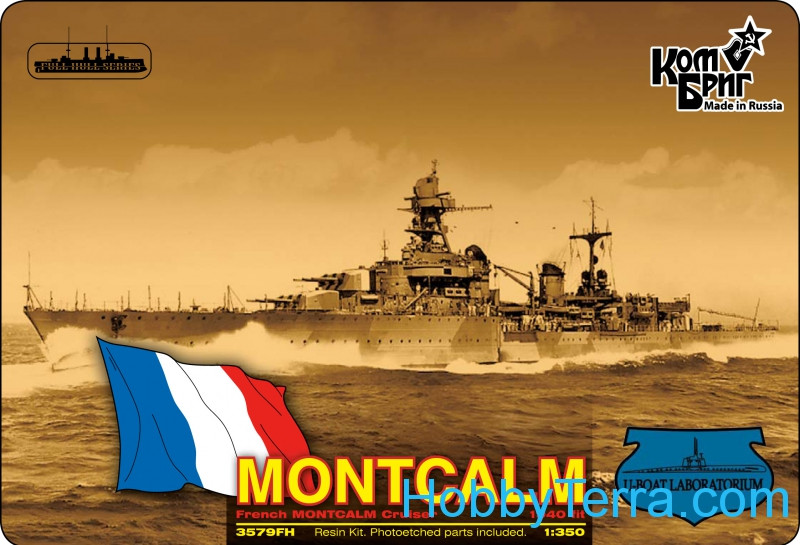 French Montcalm light cruiser, 1940 fit (Water Line version)
