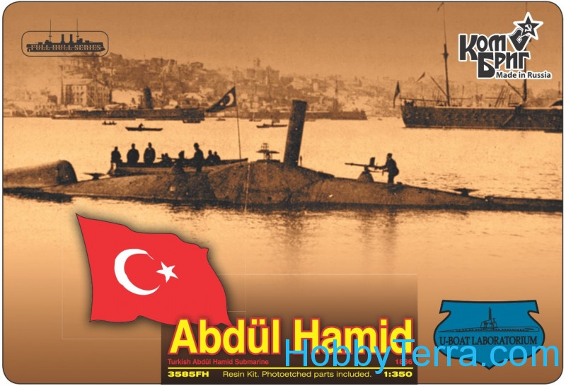 Turkish Abdul Hamid Submarine, 1886 (Full Hull version)
