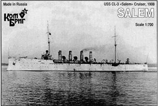 Combrig  70098 USS CL-3 Salem Cruiser, 1908