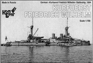 Combrig  70197 German Kurfuerst Friedrich Wilhelm Battleship, 1894