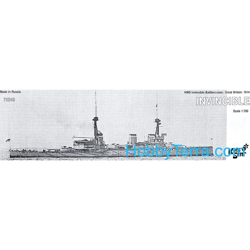 HMS Invincible Battlecruiser 1914