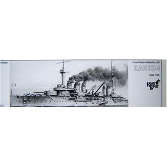 French Danton Battleship, 1911