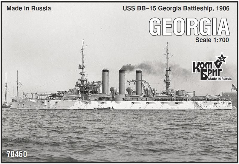 Combrig  70460 USS BB-15 Georgia Battleship, 1906