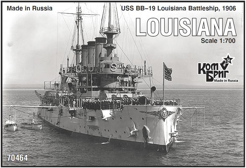USS BB-19 Louisiana Battleship, 1906
