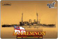 HMS Agamemnon Battleship, 1908 (Water Line version)