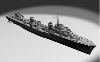French Terrible Destroyer , 1936 (End War Fit) (Full Hull version)
