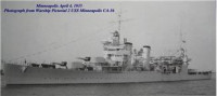 USS Minneapolis Heavy Cruiser