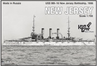 USS BB-16 New Jersey Battleship, 1906