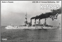 USS BB-21 Kansas Battleship, 1907