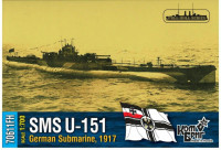 German U-151 Submarine, 1917 (water line, full hull version)