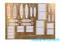 Imperial Russian navy boats and launches, with PE set (14 pcs)