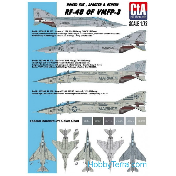 CTA  3201 Decal 1/32 for RF-4B of VMFP-3