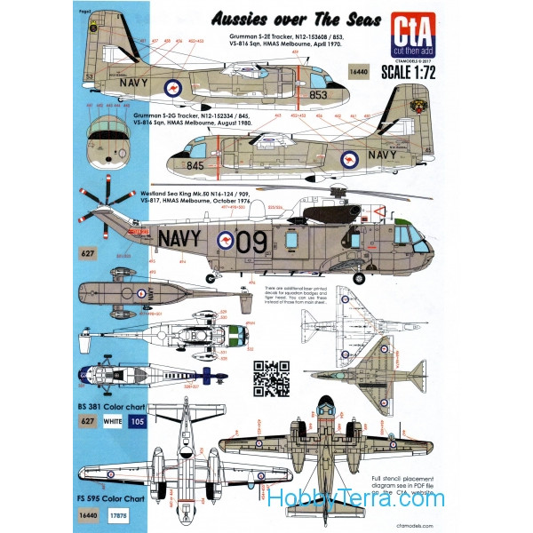 "CTA  7205 Decal 1/72 ""Aussies over the Seas"""