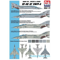 Decal 1/32 for RF-4B of VMFP-3