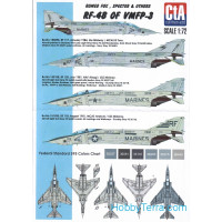 Decal 1/72 for RF-4B of VMFP-3