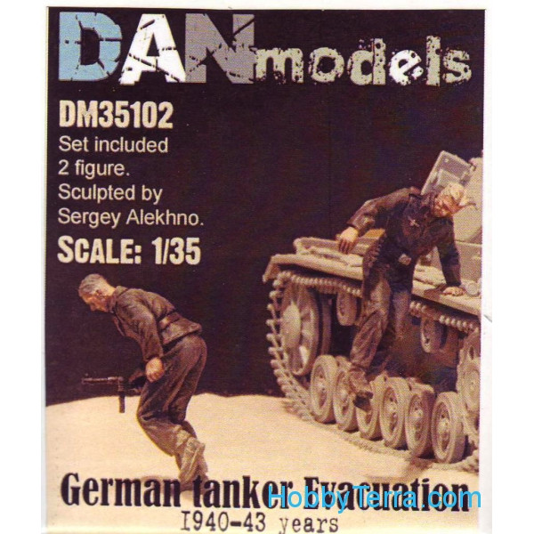 German tank crew. Evacuation, 1940-43. 2 figures, set 2