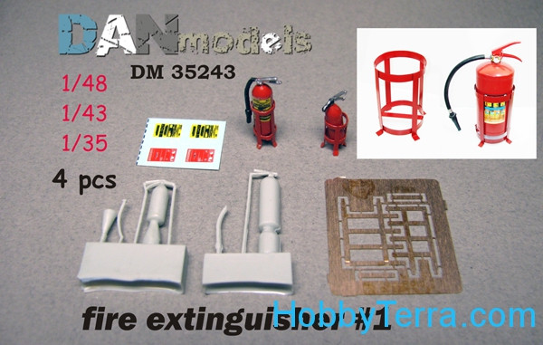 Fire extinguisher No.1, 4 pcs