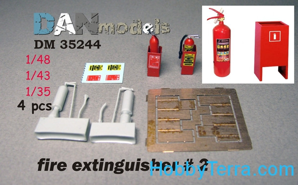 DAN models  35244 Fire extinguisher No.2, 4pcs