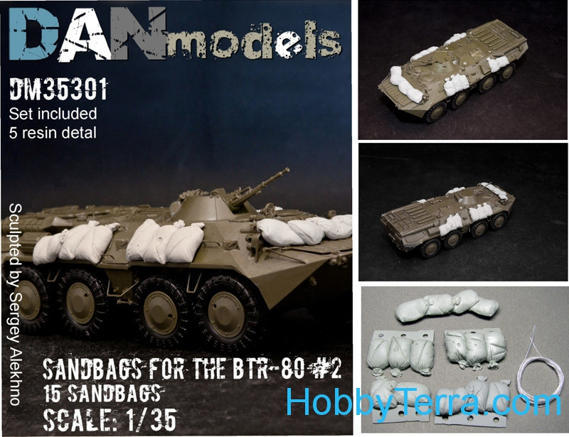 Detailing set 1/35 Sandbags for BTR-80, set 2