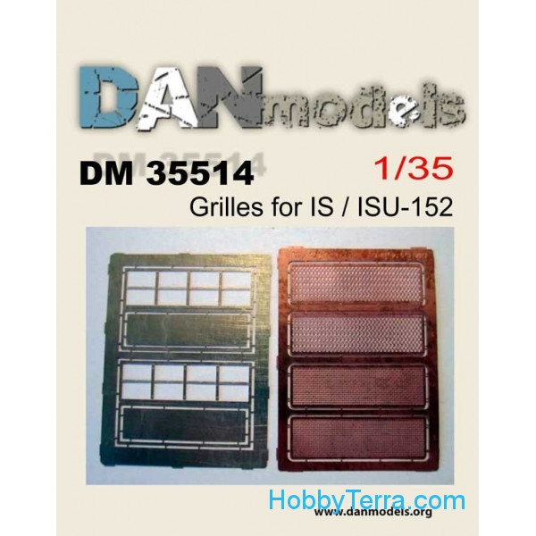 DAN models  35514 Photo-etched set 1/35 Grilles for IS/ISU-152