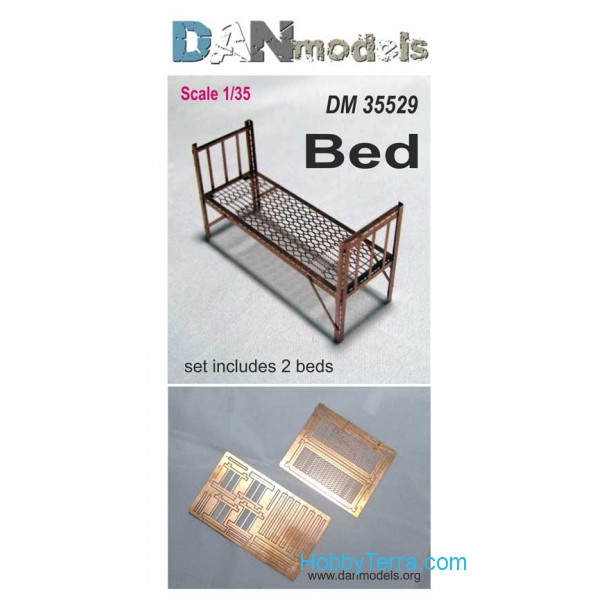 DAN models  35529 Military bed, 2 pcs