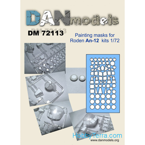 DAN models  72113 Painting mask 1/72 for An-12, for Roden kit