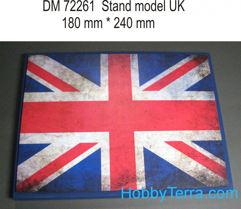 Display stand. UK theme, 240x180mm