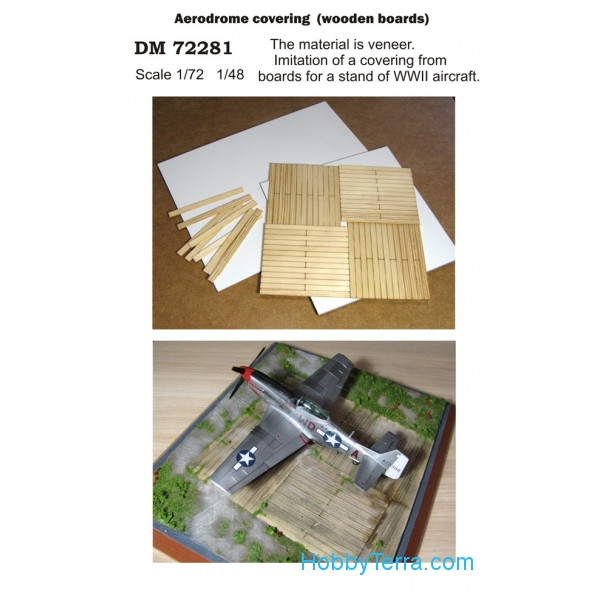 DAN models  72281 Display stand. Aerodrome covering (wooden boards), scale 1/72; 1/48