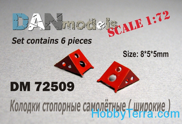 Aircraft chocks, set 6