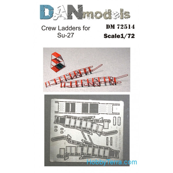 Photo-etched set 1/72 Crew ladders for Su-27
