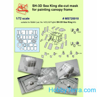 Painting mask for Italeri SH-3D Sea King