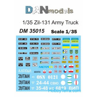 Decal 1/35 for army truck ZiL-131