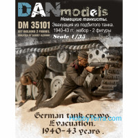 German tank crew. Evacuation, 1940-43. 2 figures, set 1