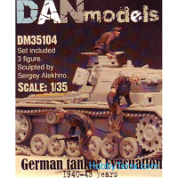 German tank crew. Evacuation, 1940-43. 3 figures, set 4