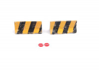 DAN models  35204 Concrete barriers with traces of fire, set 4