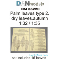 Palm leaves, yellow (dry leaves. autumn) in 1:32-1:35 scales: type #2