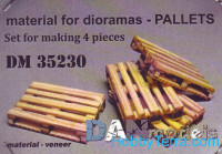 Set of veneer for assembly of pallets, 4pcs