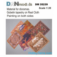 Material for dioramas.Gobelin tapestry on Real Cloth.Painting on both sides