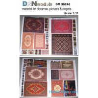 Material for dioramas, pictures & carpets (cardboard)