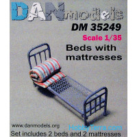 Military beds with mattress, 2pcs