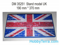 Display stand. UK theme, 370x190mm