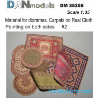 Material for dioramas. Carpets on Real Cloth. Painting on both sides #2