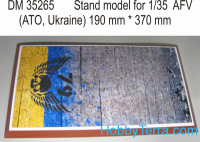 Display stand. 79 Airmobile brigade, ATO, 370x190mm