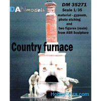 Country furnace and two figures (resin) from ASR sculpture