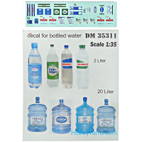 Set of bottles for vehicle/diorama, 14pcs
