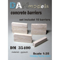 Concrete barriers, 10 pcs