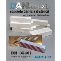 Concrete barriers. Set for check-point, 10pcs